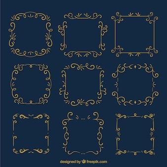 Cornici ornamentali d'oro