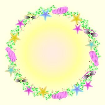 Corona di elementi estivi