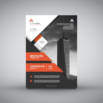Corporate design brochure arancione