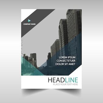 Creativo Blu relazione annuale modello di copertina del libro