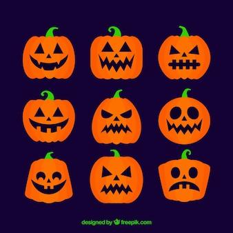 Creppy pack di classiche zucche di Halloween