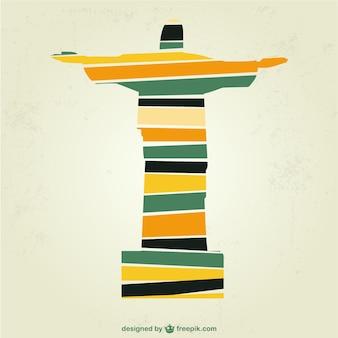 Cristo Redentore brasile illustrazione arte