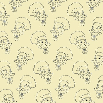 Cuoco background vector pattern
