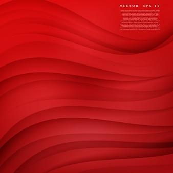 Curva di sfondo rosso