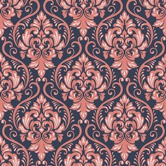 Decorazione barocca tessile floreale senza soluzione di continuità