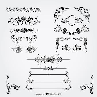 Decorazioni floreali vettore