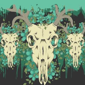 Deer cranio sfondo