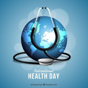 Del mondo di fondo giornata della salute con lo stetoscopio