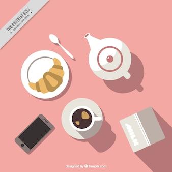 Deliziosa prima colazione di fondo