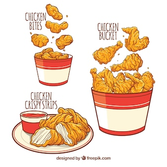 Deliziosi menu di pollo fritto
