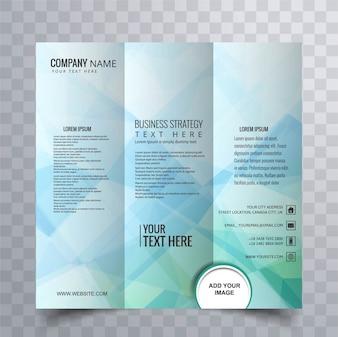 Design astratto poligonale brochure
