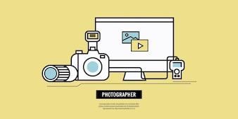Design bandiera di fotografia