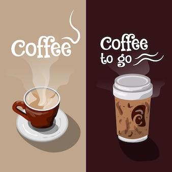 Design banner di caffè