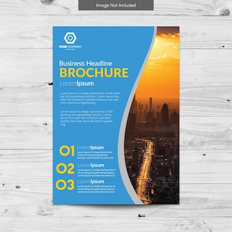 Design bianco e verde del brochure aziendale