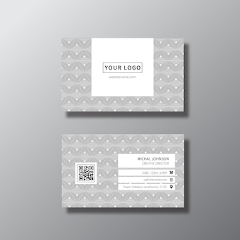 Design biglietto da visita d'argento