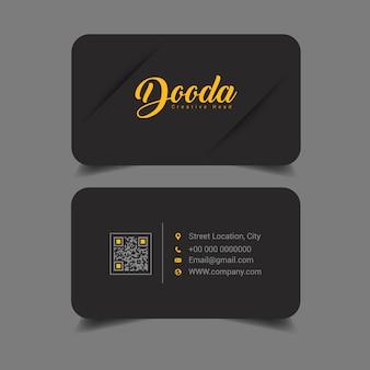 Design biglietto da visita nero