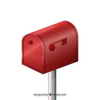 Design Cassetta postale rossa