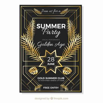 Design d'oro poster poster d'estate