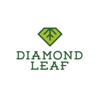 Design del logo a foglia diamanti