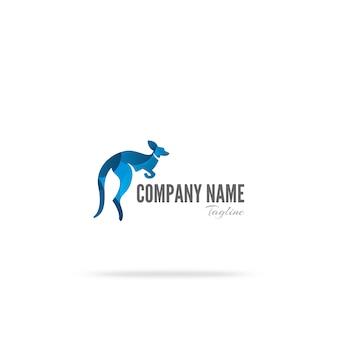 Design del logo del canguro