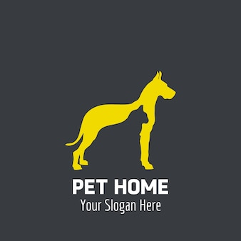 Design del logo dell'animale domestico