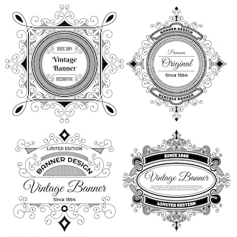 Design dell'etichetta dell'annata
