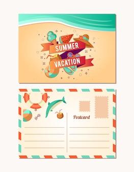 Design della carta estiva