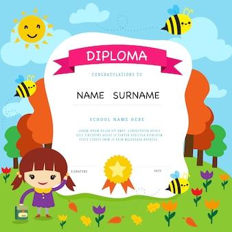 Design di diploma di scuola