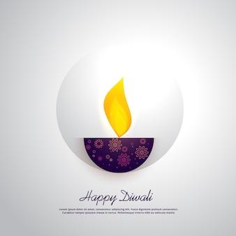 Design diya creativo per il festival diwali