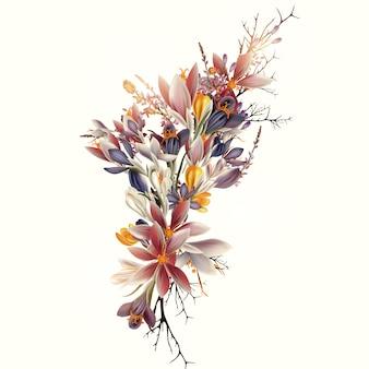 Design floreale di boquet