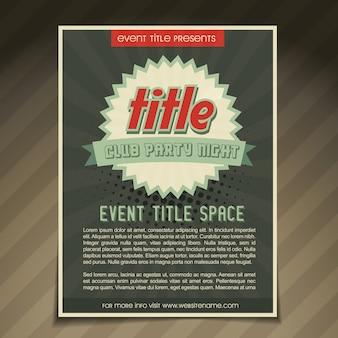 Design flyer evento