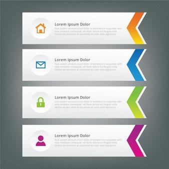 Design freccia infografica