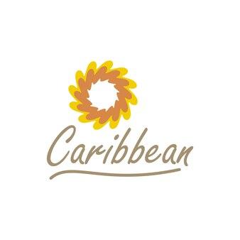 Design logo tropicale