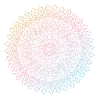 Design mandala decorativo con colori pastello