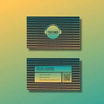 Design moderno di biglietti da visita