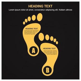 Design moderno infografica modello di piede