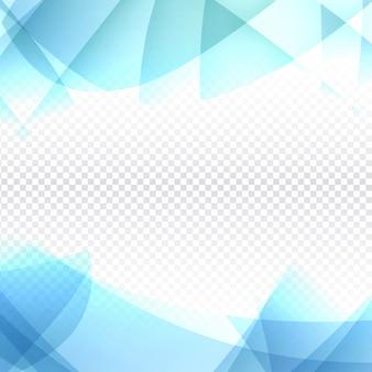 Design moderno ondulato blu su sfondo trasparente