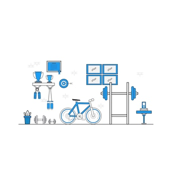 Design piatto dello spazio di lavoro