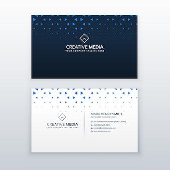 Design semplice biglietto da visita con forme triangolo