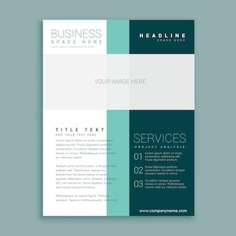 Design semplice brochure per il tuo business