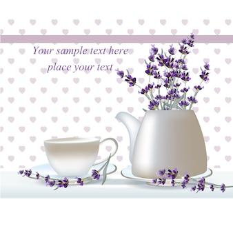 Design tea background