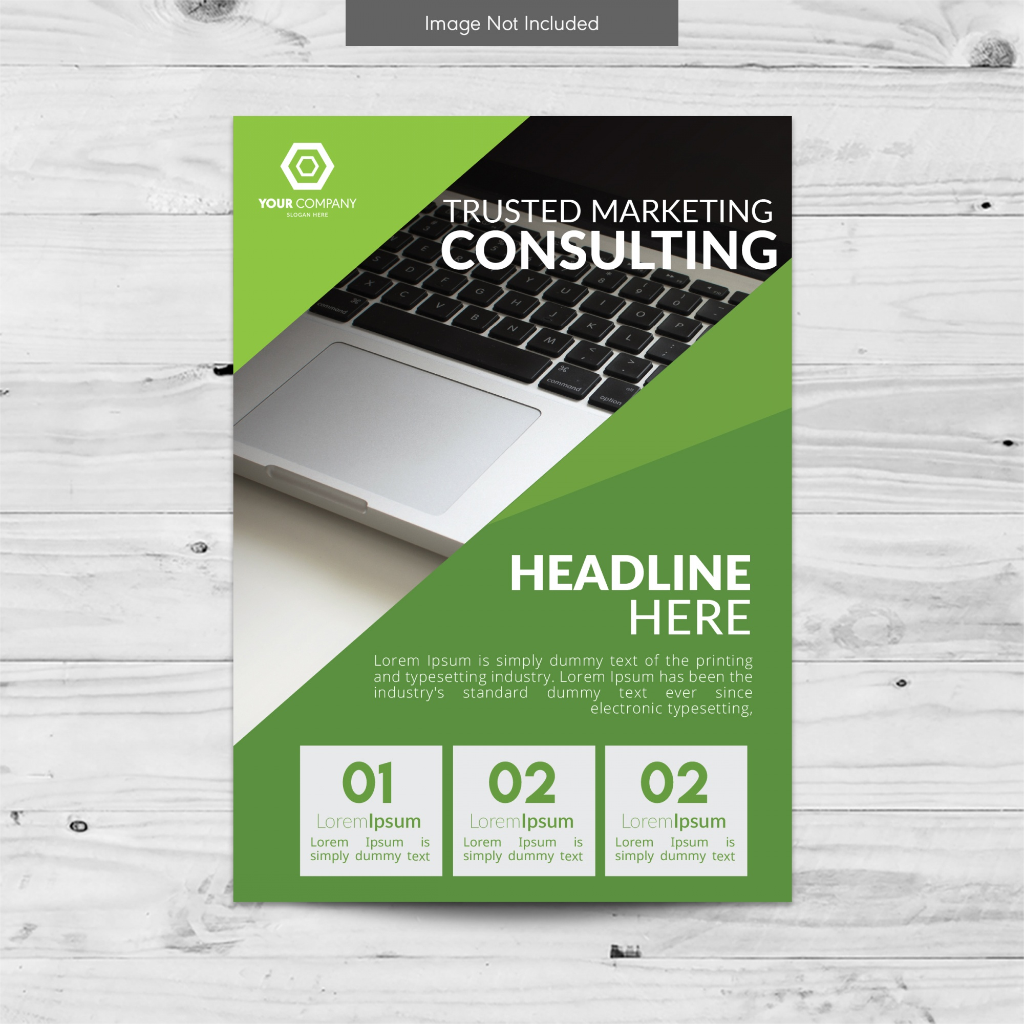 Design verde brochure business