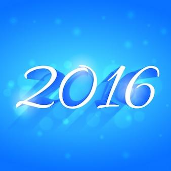 Di auguri 2016 con sfondo blu