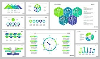 Dieci set di modelli di diapositive di marketing