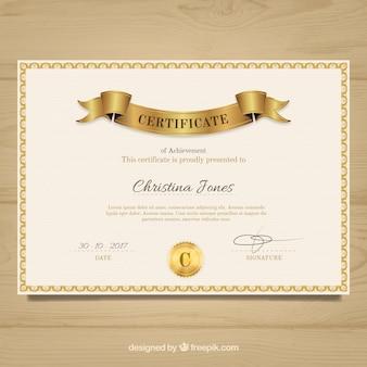 Diploma elegante dell'annata