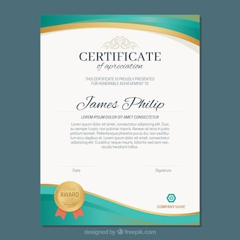 Diploma template astratto