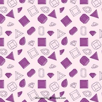 Disegnata a mano diamante sfondo in toni viola