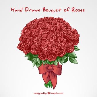 disegnati a mano bouquet di rose