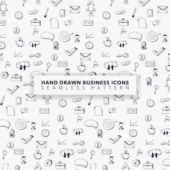 Disegnati a mano sfondo icona business icon