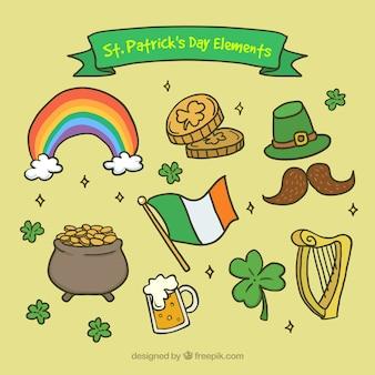 Verde arpa di irlanda grunge flag scaricare foto gratis - St patricks giorno fogli di colore giorno ...